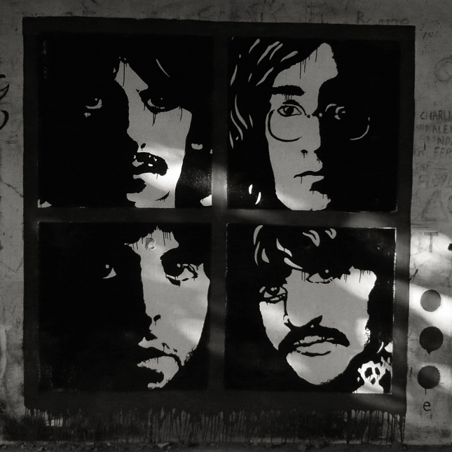 The Beatles in Rishikesh / Image (C) Abul Kalam Azad / Archival Pigment print / 2012